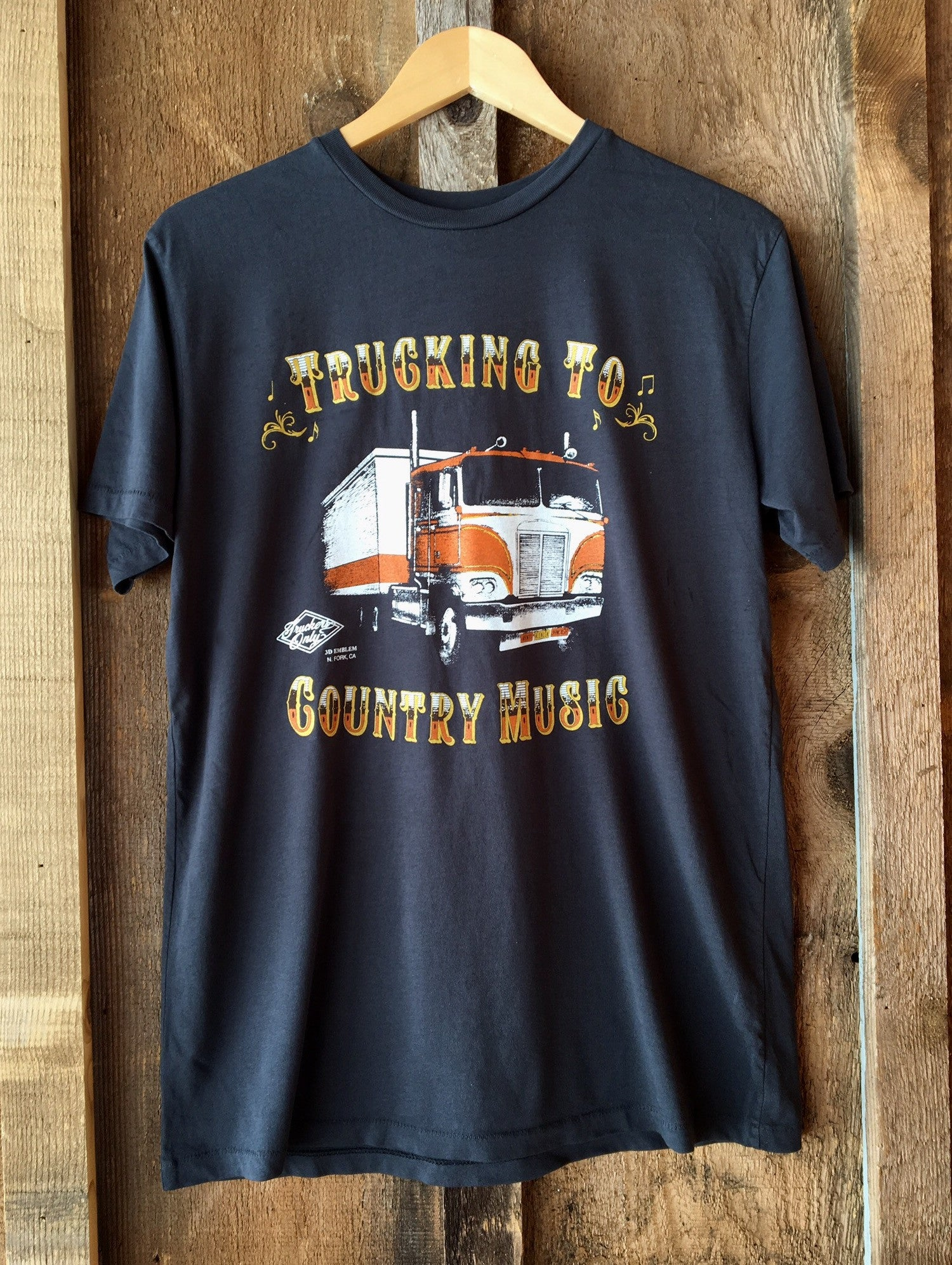 Trucking To Country Music Mens Tee Blk/Color