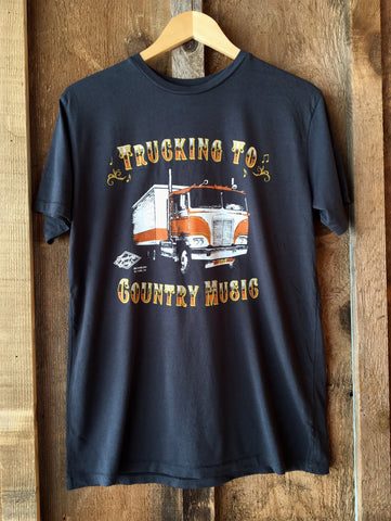 Trucking To Country Music Mens Tee Blk/Color click for more information