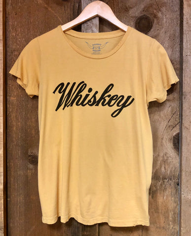 Whiskey Womens Tee Gold Dust/Blk