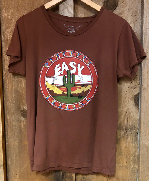 Peaceful Easy Feelin Womens Tee Rust/Color