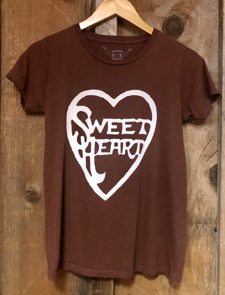 Sweet Heart Womens Tee Rust/Wht