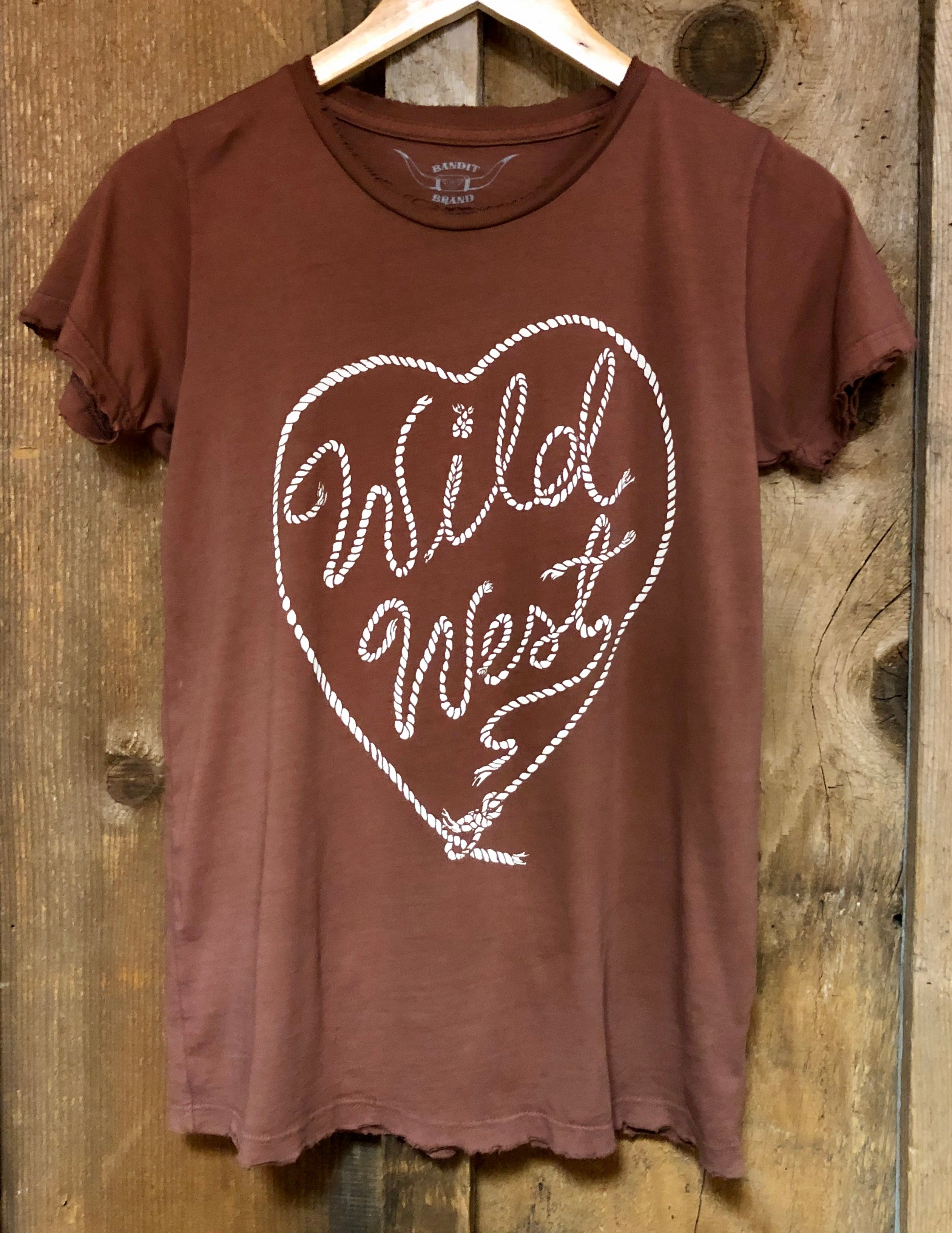 Wild West Womens Tee Rust/Wht