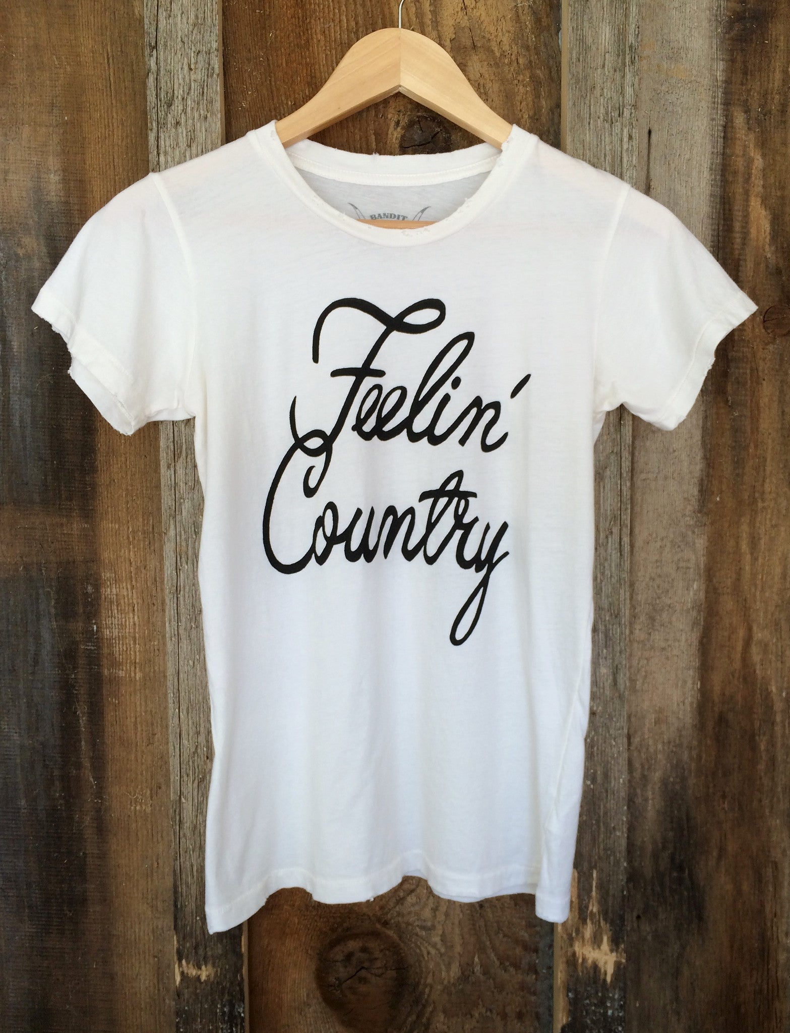 Feelin' Country Womens Tee White/Blk