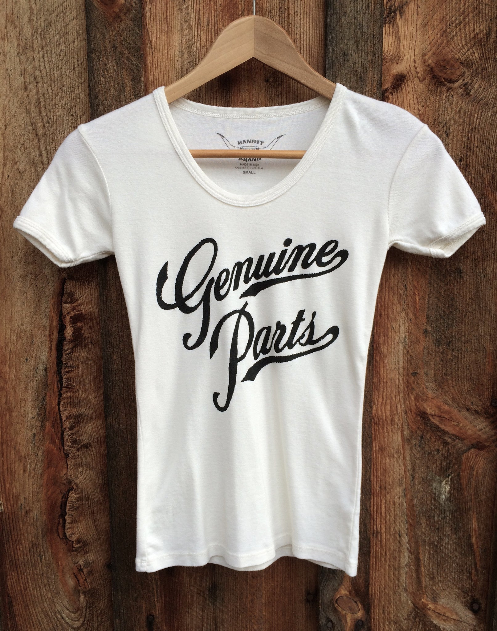 Genuine Parts 70's Tee White/Black