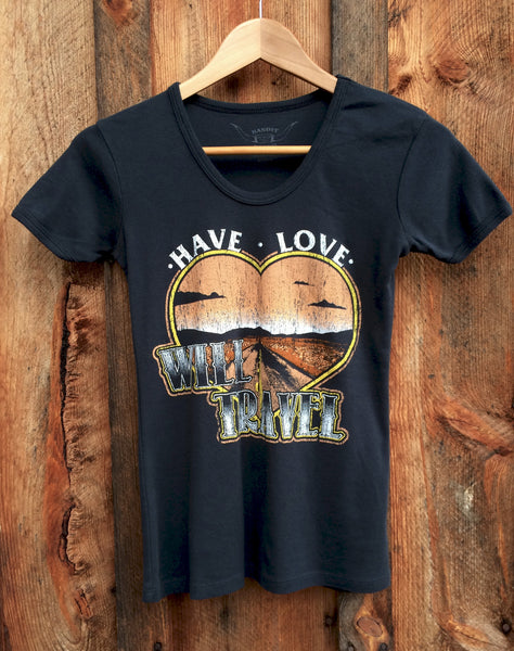 Have Love Will Travel 70's Tee Blk/Multi