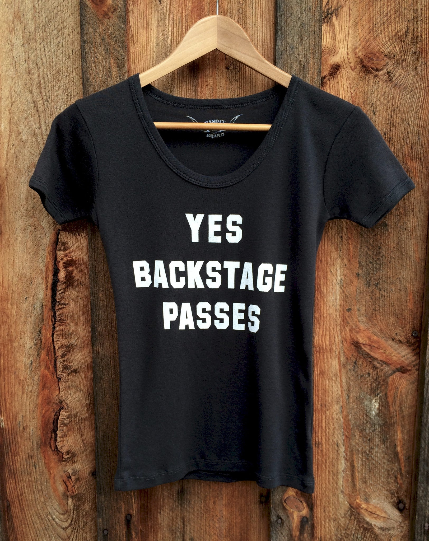 Yes Backstage Passes 70's Tee Blk/Wht