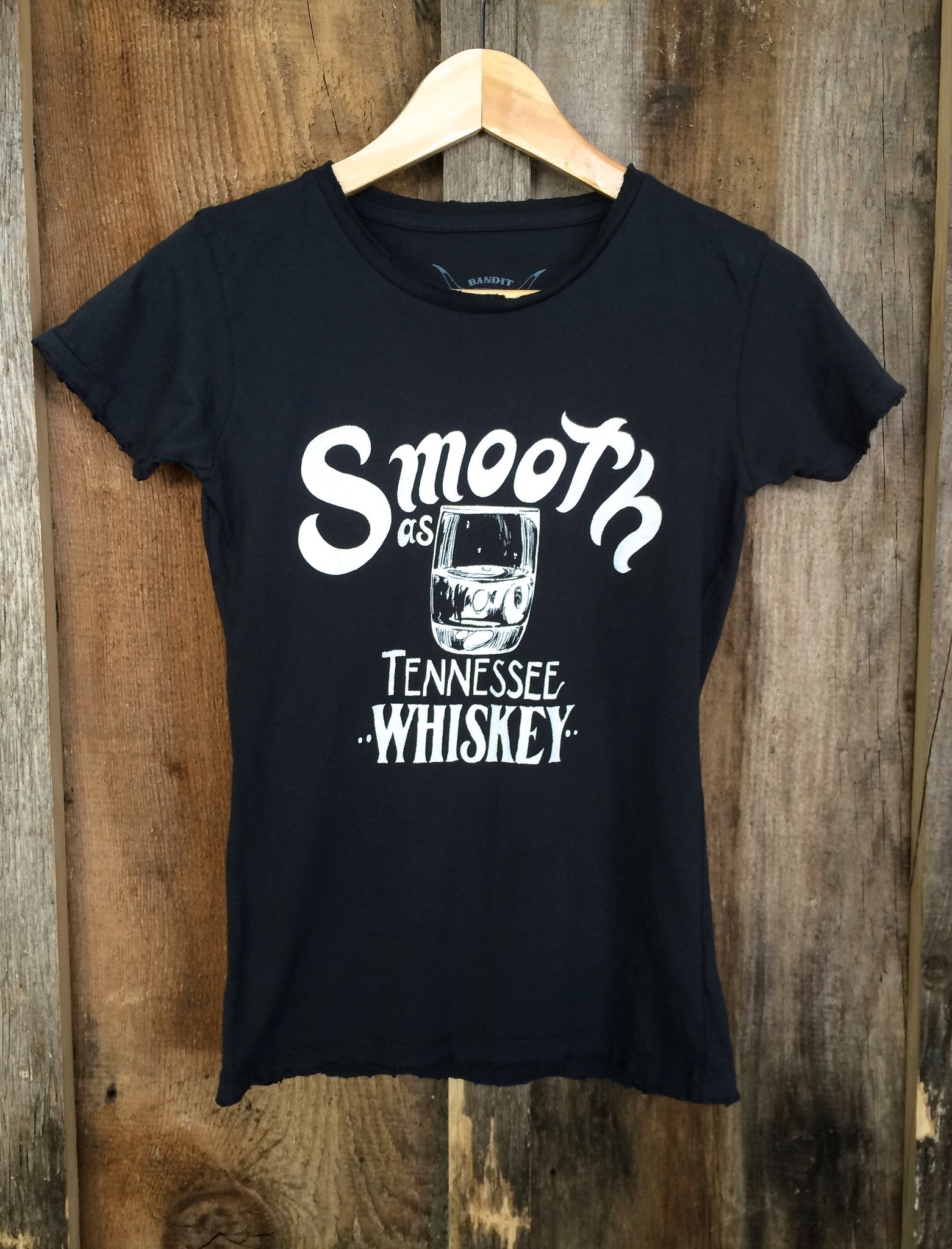 Smooth As Tennessee Whiskey Womens Tee Blk/White