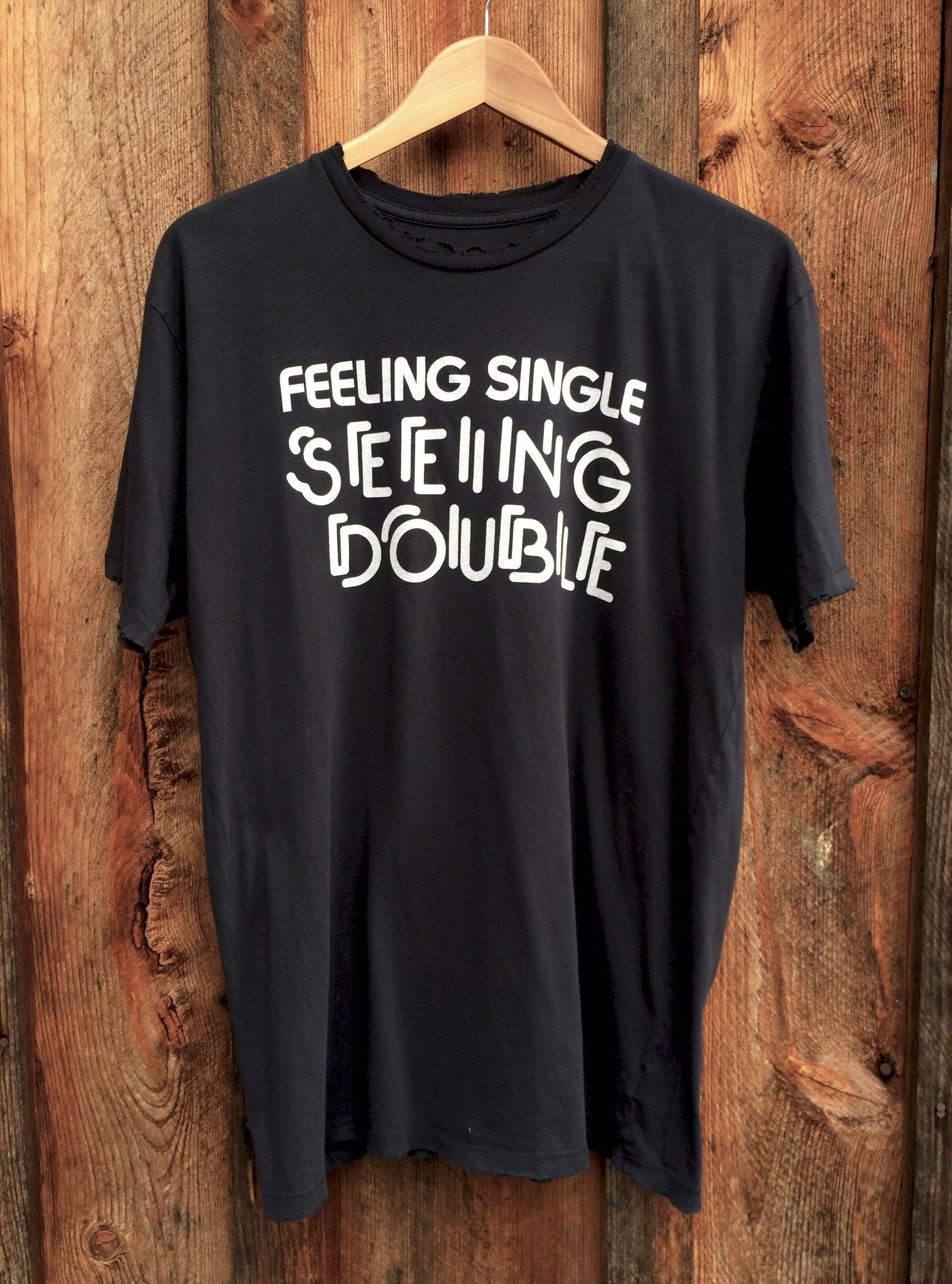 Feelin Single Mens Tee Blk/Wht