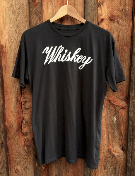 Whiskey Men's Tee, Black/White
