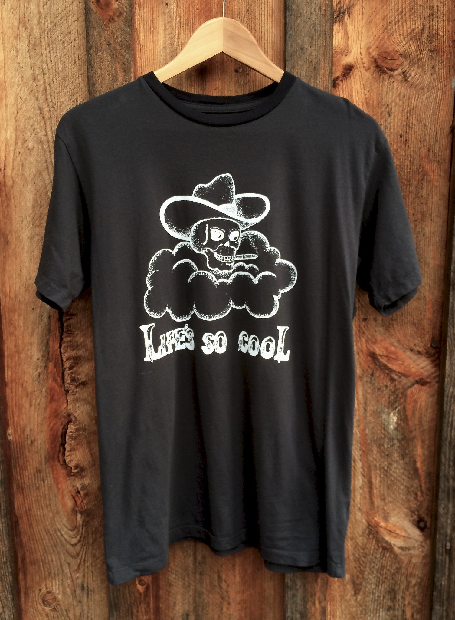 Life's So Cool Mens Tee Blk/Wht