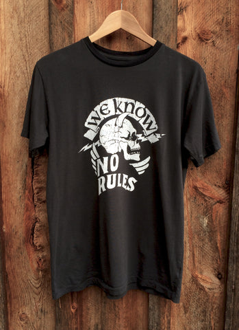No Rules Mens Tee Blk/Wht