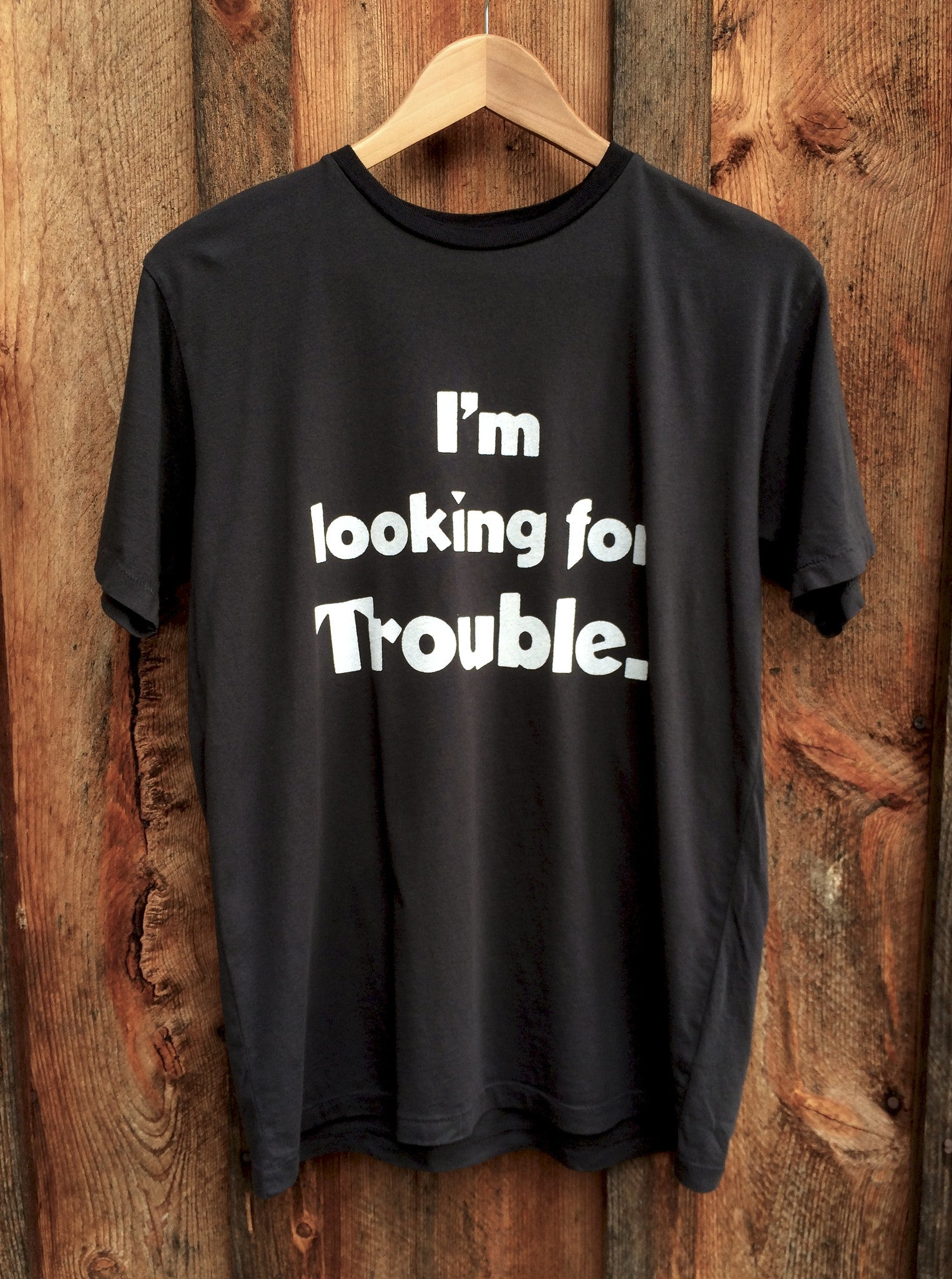 Lookin for Trouble Mens Blk/Wht