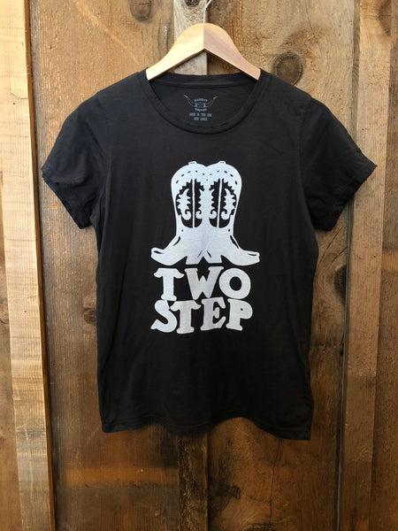 Two Step Women's Tee Blk/White