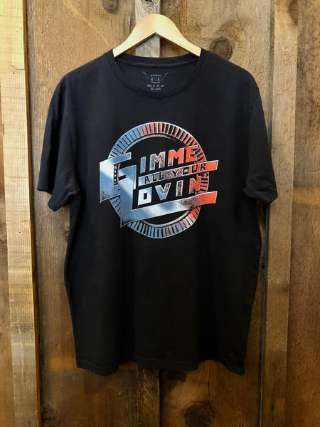 Gimme All Your Lovin Mens Tee Blk/Color
