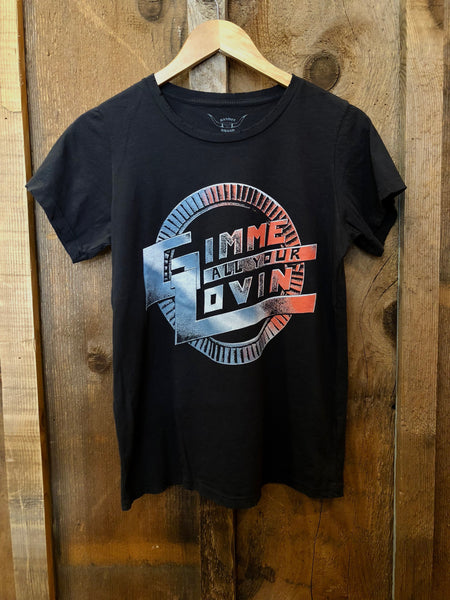Gimme All Your Lovin Womens Tee Blk/Color