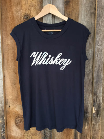 Whiskey Tour Muscle Blk/White