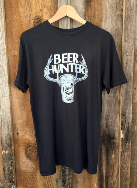 Beer Hunter Mens Tee Blk/White
