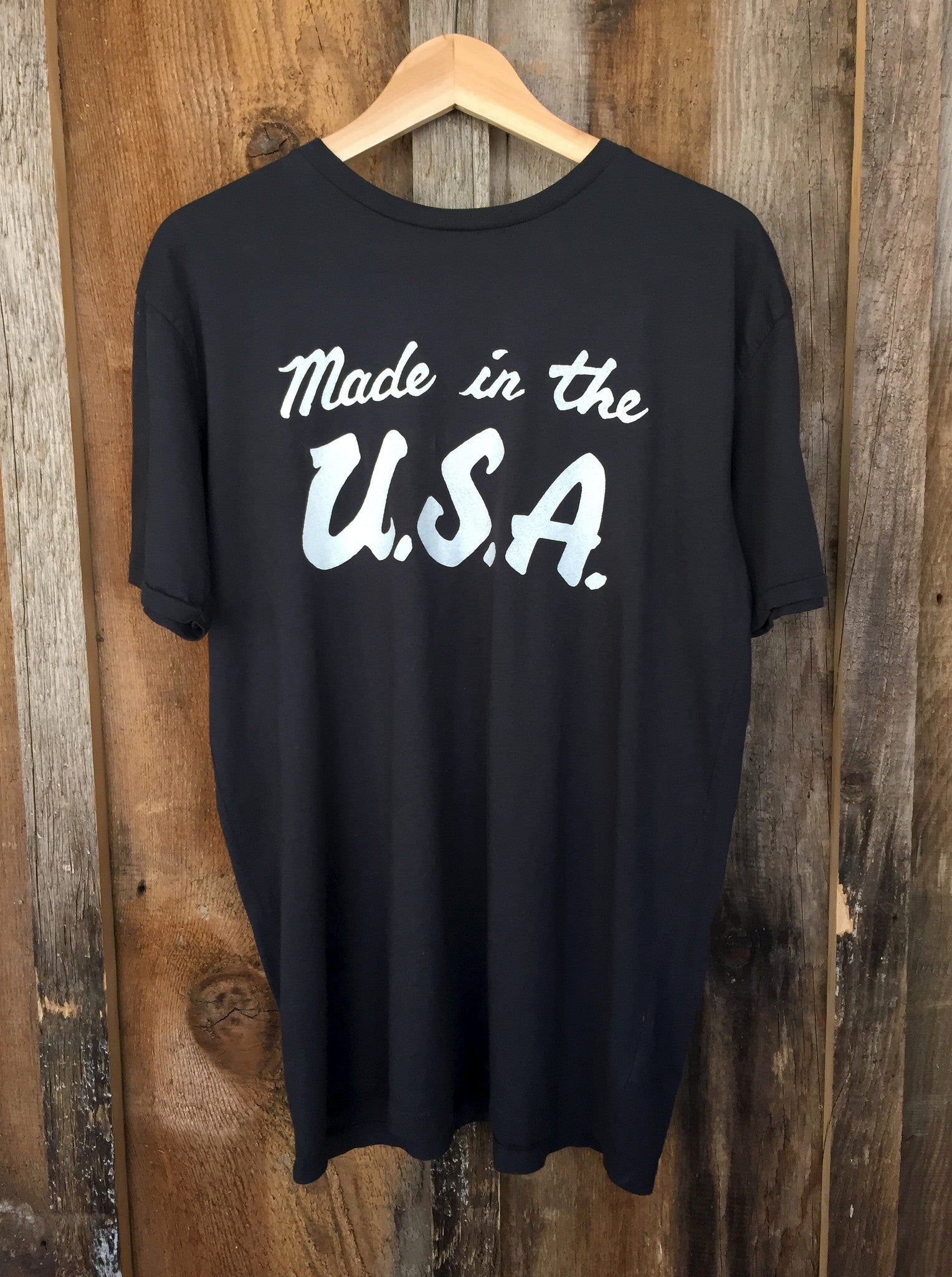 Made in the USA Mens Tee Blk/White