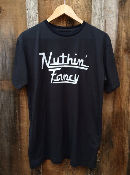 Nuthin Fancy Mens Tee Blk/Wht