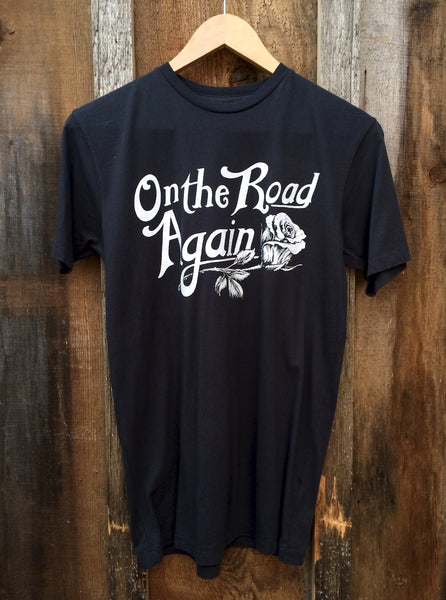 On the Road Again Mens Tee Blk/Wht