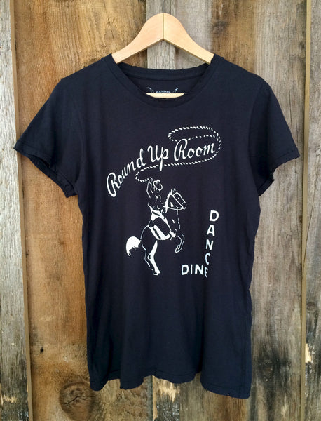 Round Up Room Womens Tee Blk/White