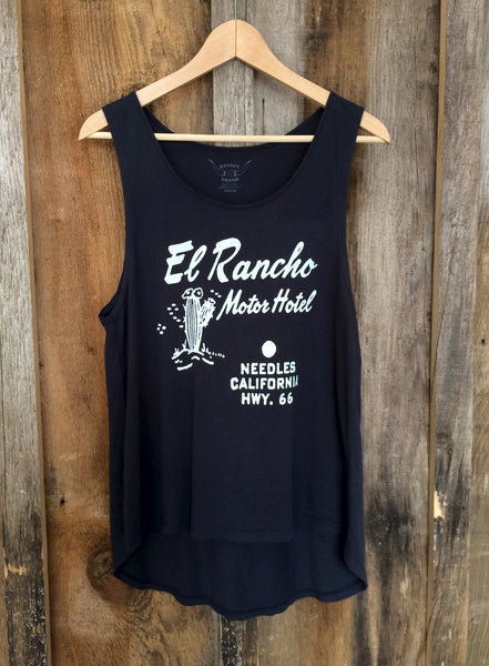 El Rancho Motel Long Tank Blk/White