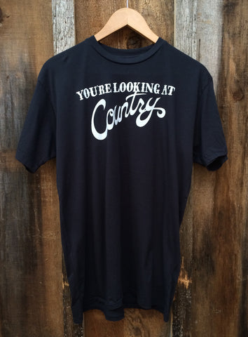 You're Looking At Country Mens Tee Blk/White