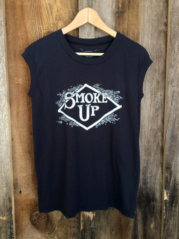Smoke Up Tour Muscle Blk/White