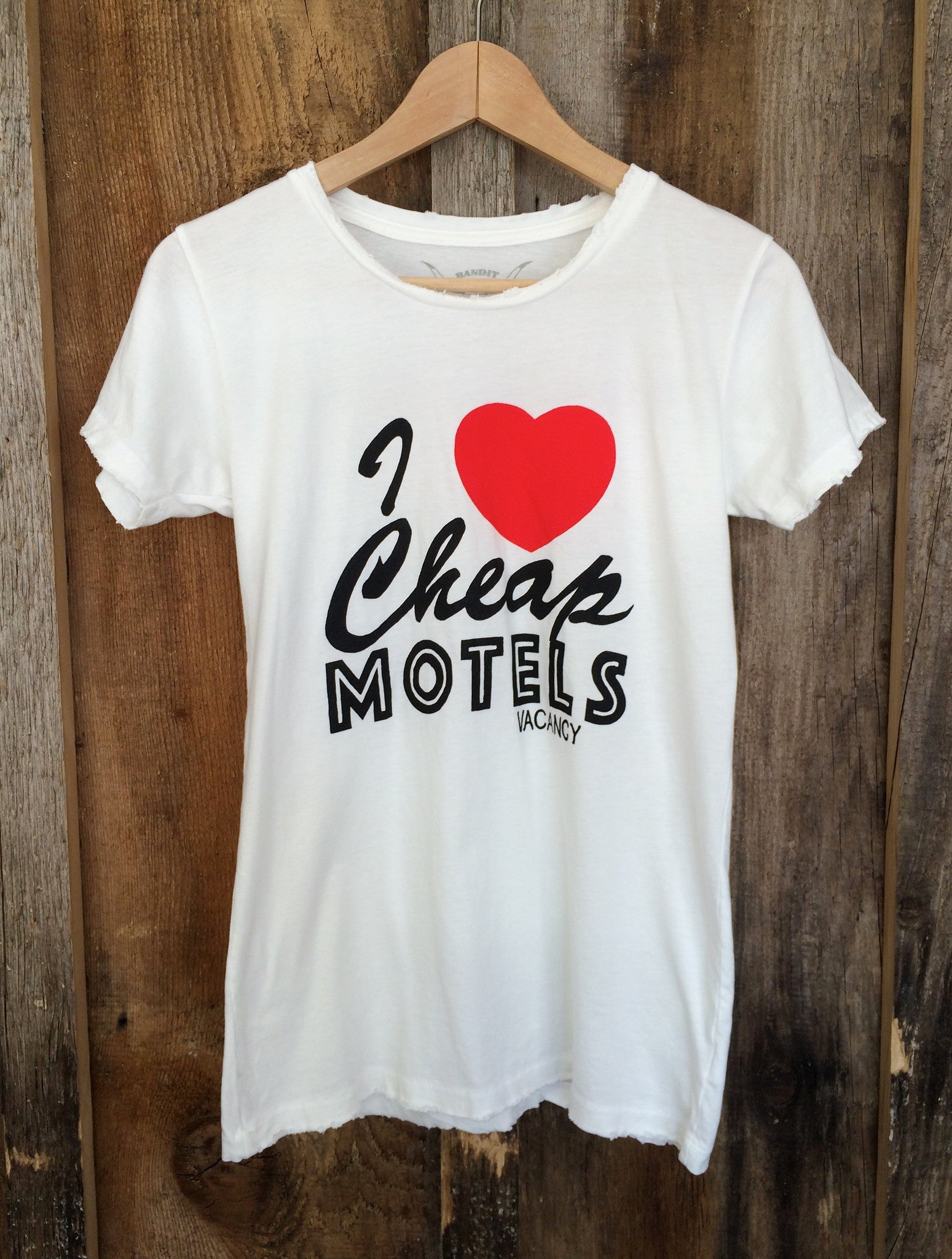 I Love Cheap Motels Womens Tee White/Multi