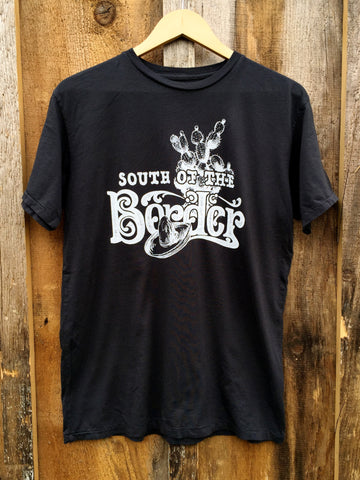 South Of The Border Mens Tee Blk/White