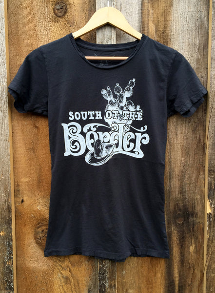 South Of The Border Womens Tee Blk/White