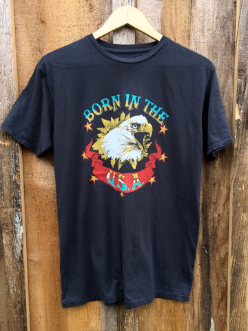 Born In The USA Mens Tee Blk/Color