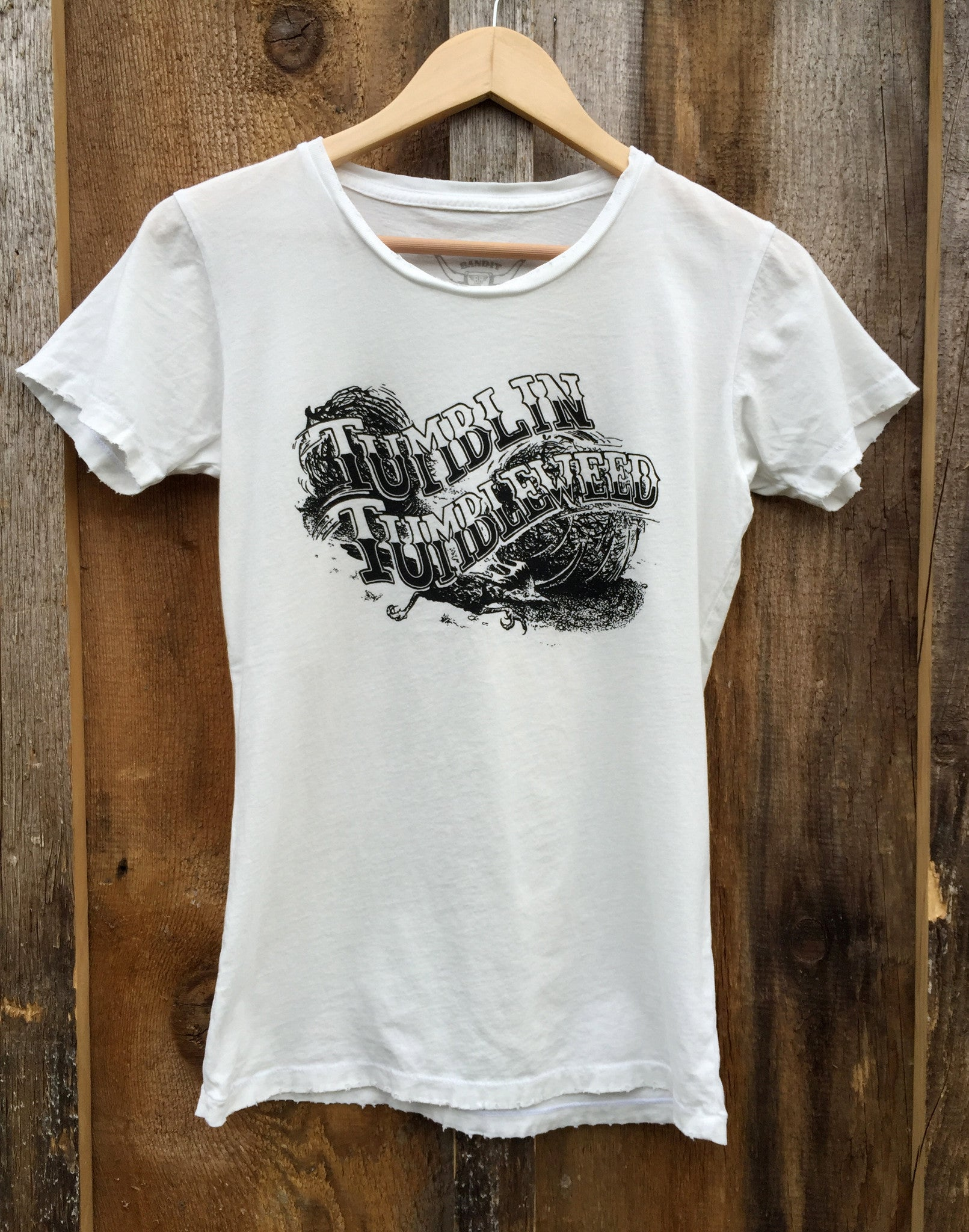 Tumblin Tumbleweed Womens Tee White/Blk
