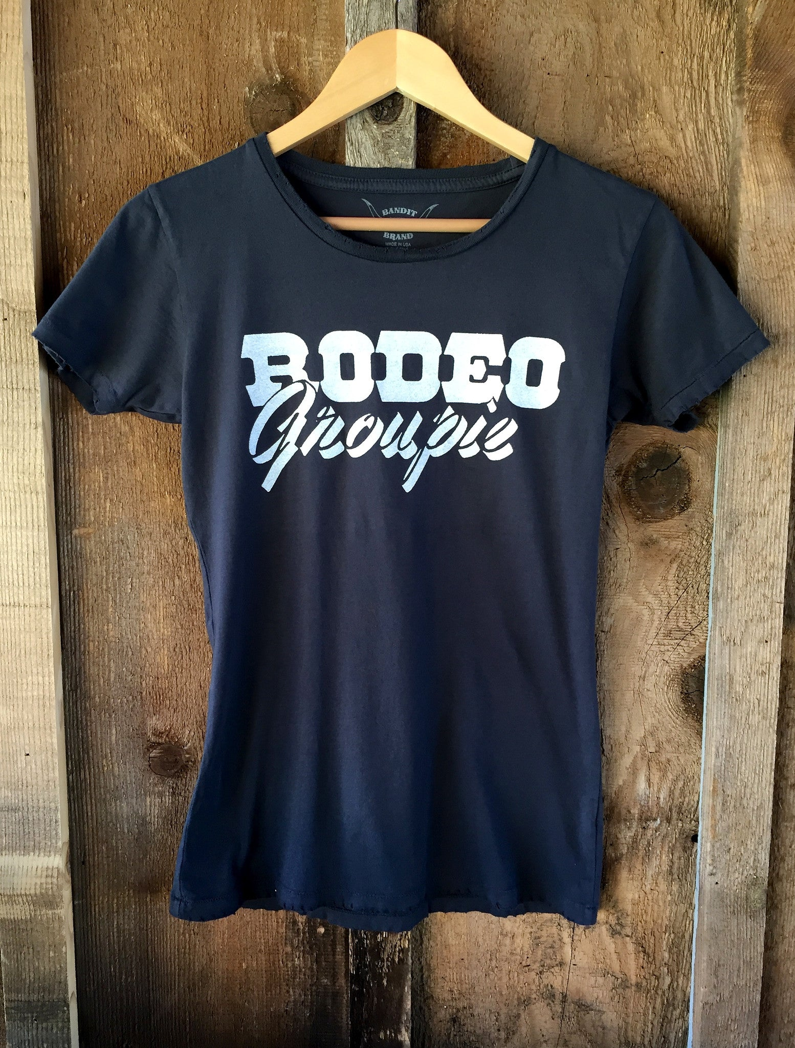 Rodeo Groupie Womens Tee Blk/White