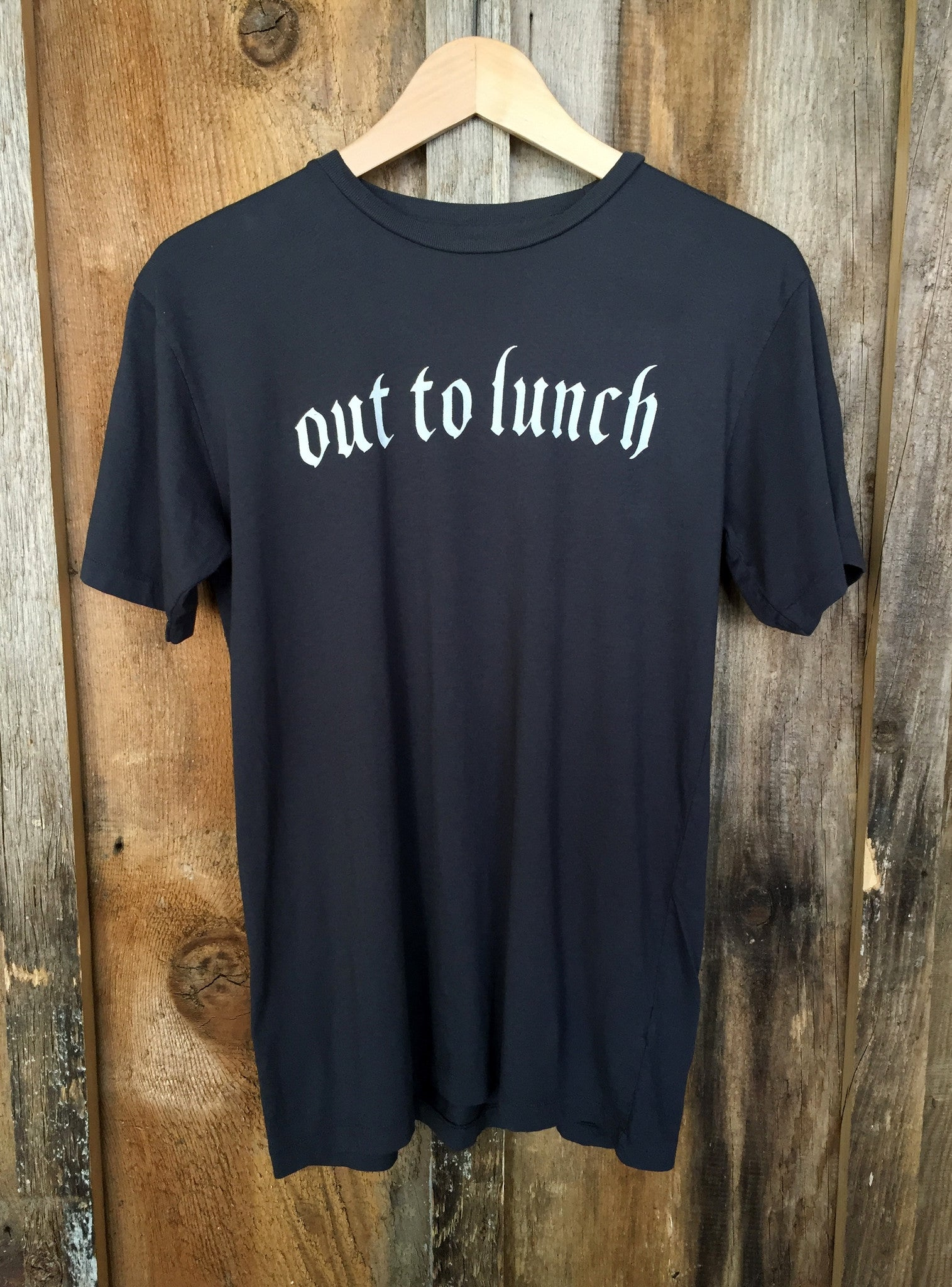 Out To Lunch Mens Tee Blk/White