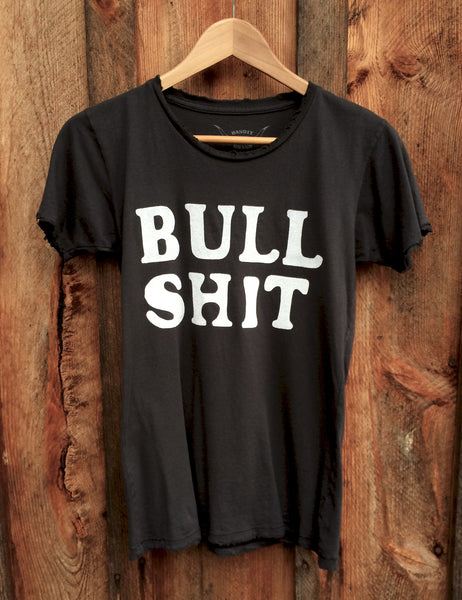 Bull Shit Women's Vintage Tee Black/White