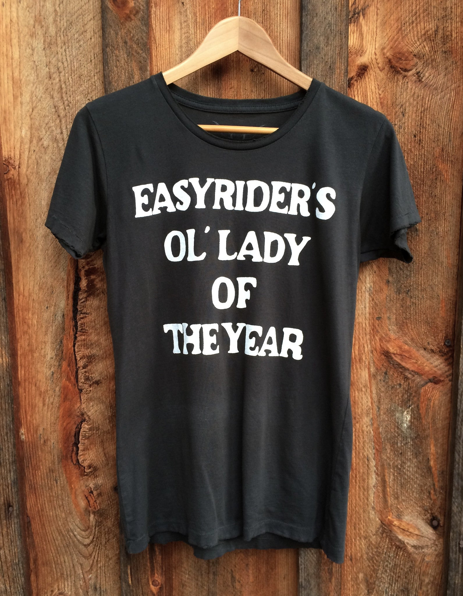 Easy Rider's Ol Lady of the Year Women's Vintage Tee Black/White