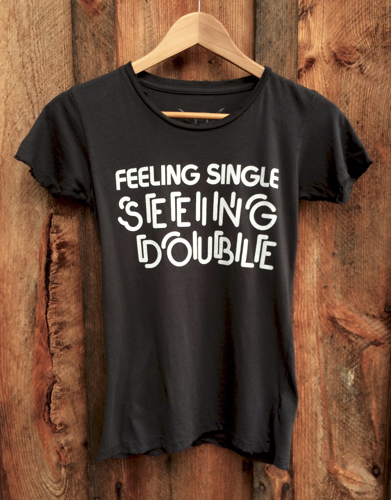 Feelin Single Womens Tee Blk/Wht