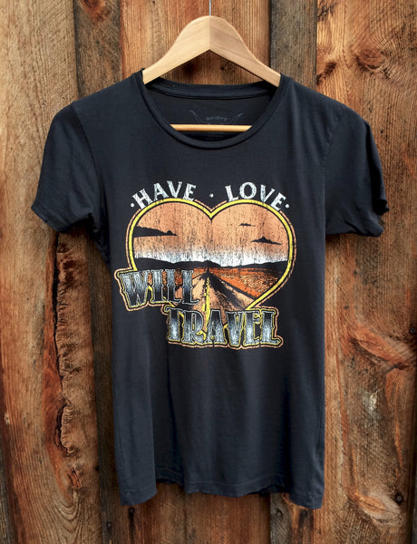 Have Love Will Travel Women's Vintage Tee, Black