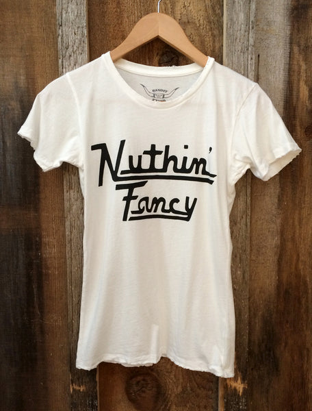 Nuthin' Fancy Women's Vintage Tee White/Black