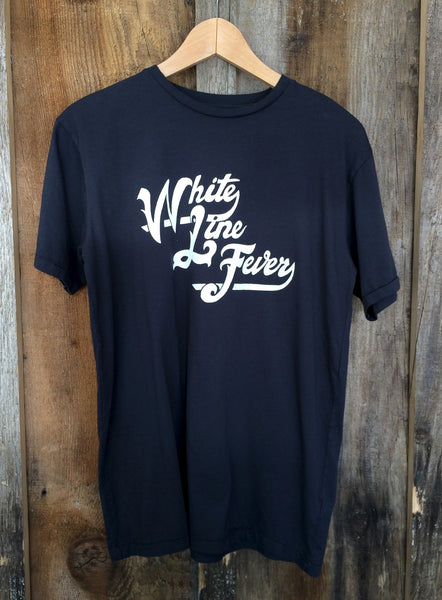 White Line Fever Mens Tee Blk/White