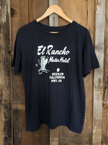 El Rancho Motel Mens Tee Blk/White