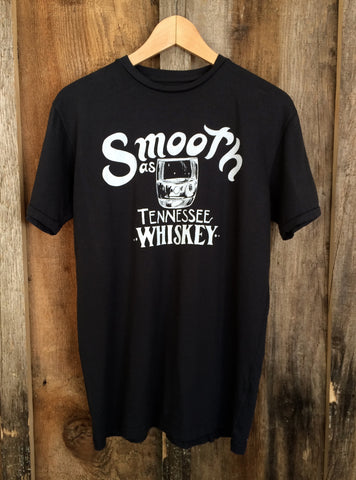 Smooth As Tennessee Whiskey Mens Tee Blk/White