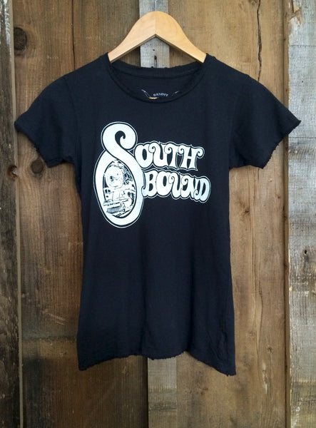 South Bound Womens Tees Blk/White