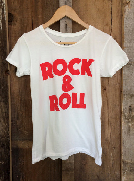 Rock & Roll Womens Tee White/Red