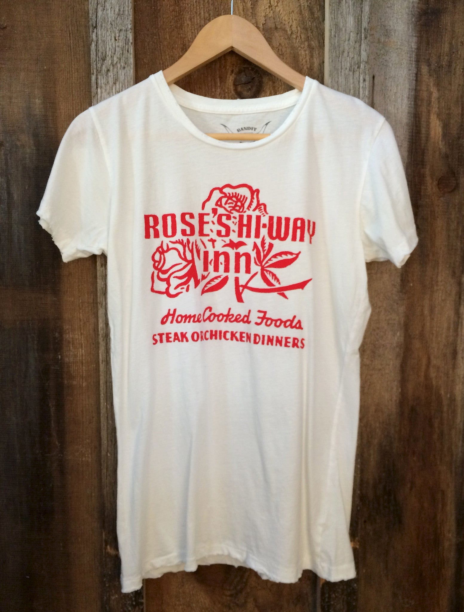 Rose's Highway Inn Womens Tee Wht/Red