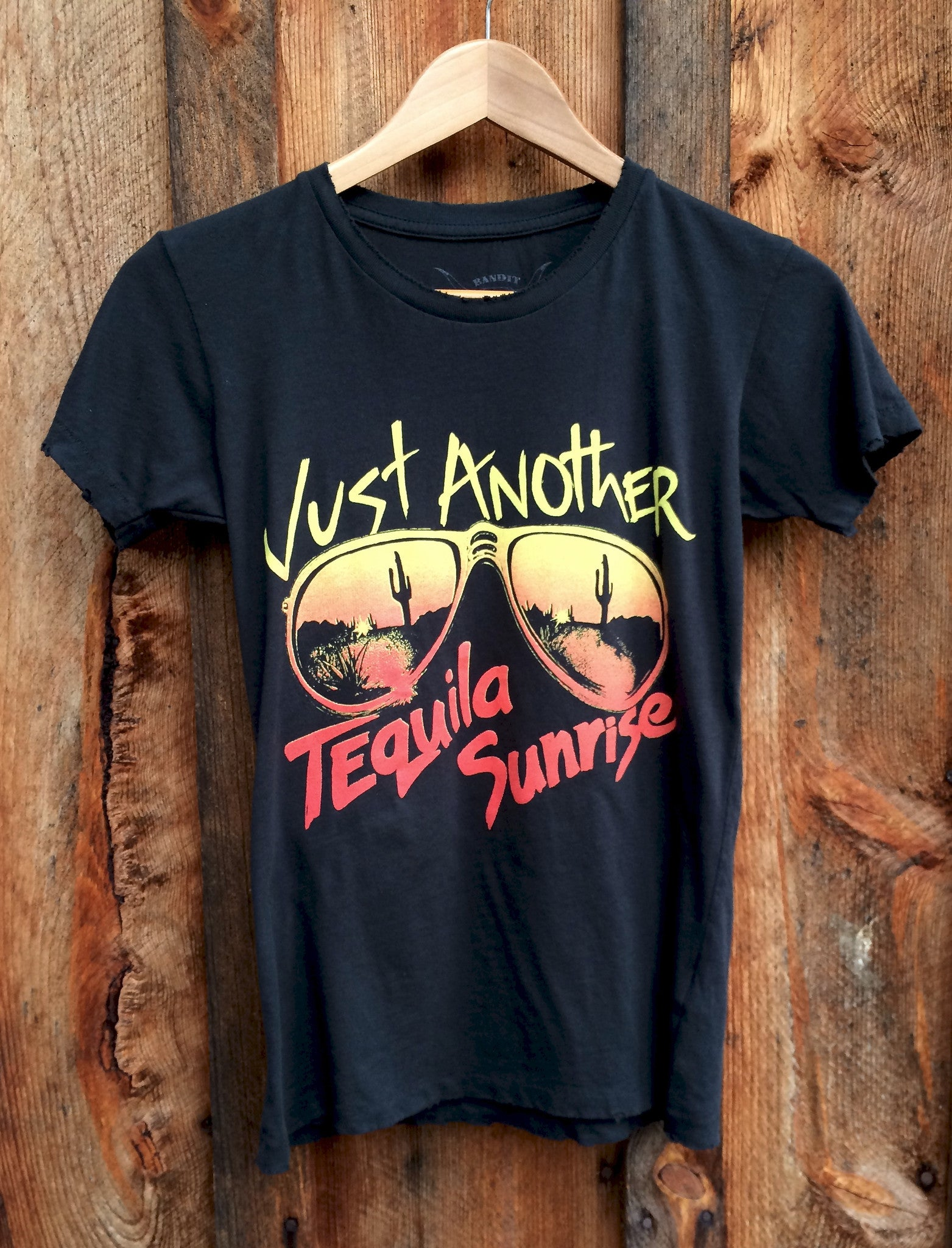 Tequila Sunrise Womens Tee Blk/Multi