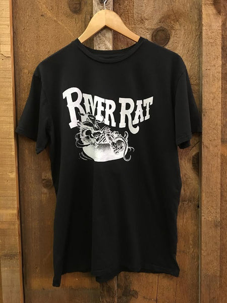 River Rat Mens Tee Blk/White