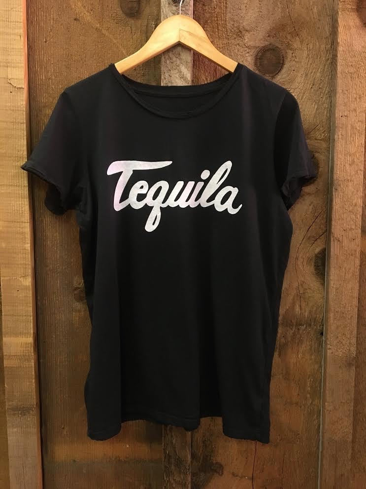 Tequila Womens Tee Blk/White