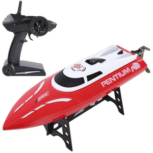 RC Race Boat,25 KM/H Remote Control Boat for Kid Adult,2.4 GHz 180° Flip High-Speed Boat
